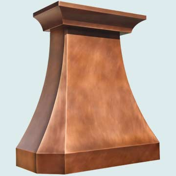 Copper Range Hood # 4280