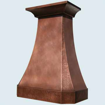 Copper Range Hood # 4523