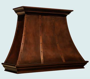 Copper Kitchen Hood # 6500