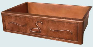 Custom Copper Repousse Apron Sinks # 2844