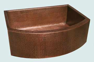 Copper Kitchen Sinks Curved Apron # 2850