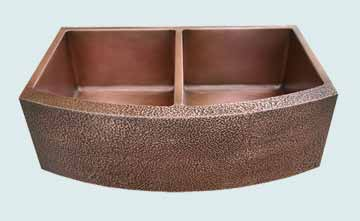 Copper Kitchen Sinks Curved Apron # 2924