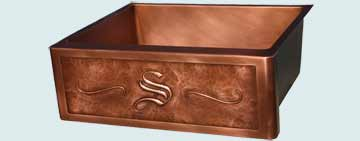 Custom Copper Repousse Apron Sinks # 2979