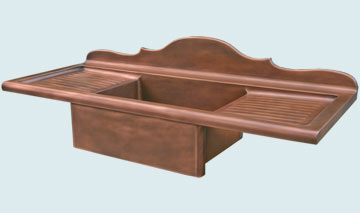 Copper Drainboard Sinks # 3513