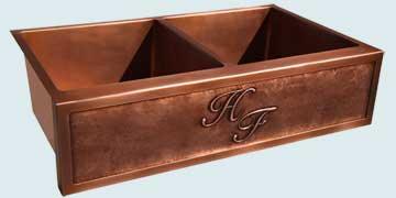 Custom Copper Repousse Apron Sinks # 4215