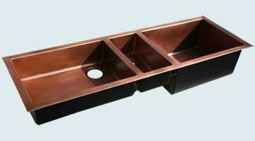 Copper Extra Large Sinks # 4444