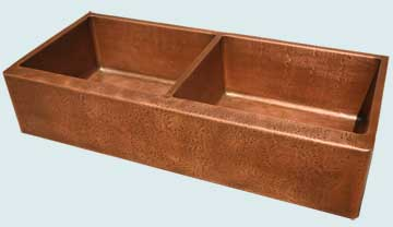 Copper Extra Large Sinks # 4583