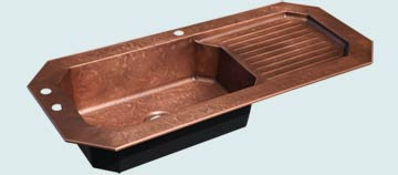 Copper Drainboard Sinks # 4707