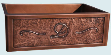 Custom Copper Repousse Apron Sinks # 4991