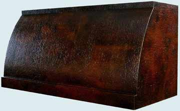 Copper Range Hood # 2471