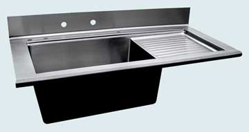 Stainless Steel Drainboard Sinks # 3696