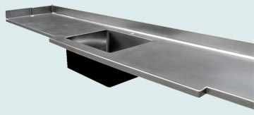 Stainless Steel Countertop # 3344