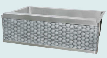 Stainless Steel Woven Apron Sinks # 2953