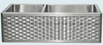 Stainless Steel Woven Apron Sinks # 3727