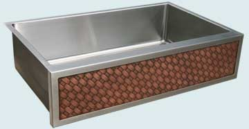 Stainless Steel Woven Apron Sinks # 4585