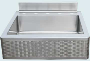 Stainless Steel Woven Apron Sinks # 4660