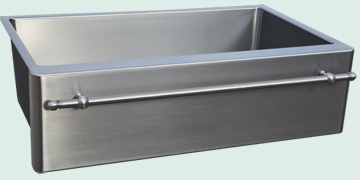 Stainless Steel Towel Bar sinks # 4845