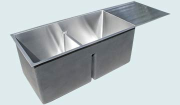 Stainless Steel Drainboard Sinks # 5240