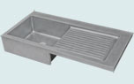 Zinc Kitchen Sinks Drainboards